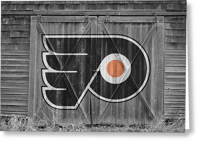 Skates Greeting Cards - Philadelphia Flyers Greeting Card by Joe Hamilton