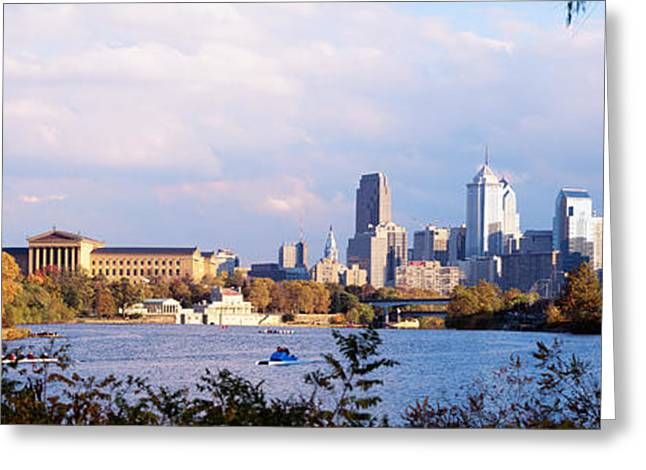 Philadelphia Museum Of Art Greeting Cards - Philadelphia Pa Greeting Card by Panoramic Images