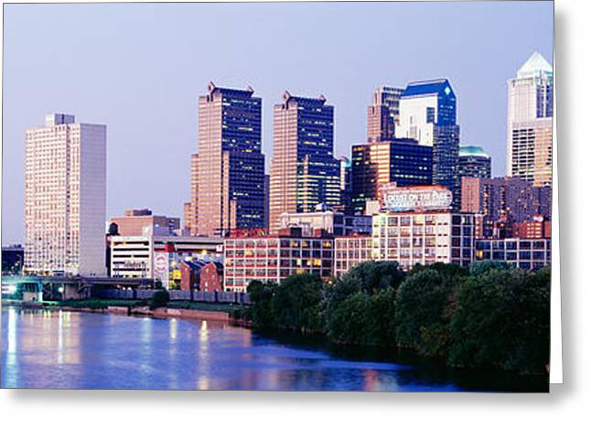 Schuylkill Greeting Cards - Philadelphia, Pennsylvania, Usa Greeting Card by Panoramic Images