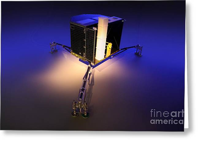 Phila Greeting Cards - Philae Lander Greeting Card by Detlev van Ravenswaay