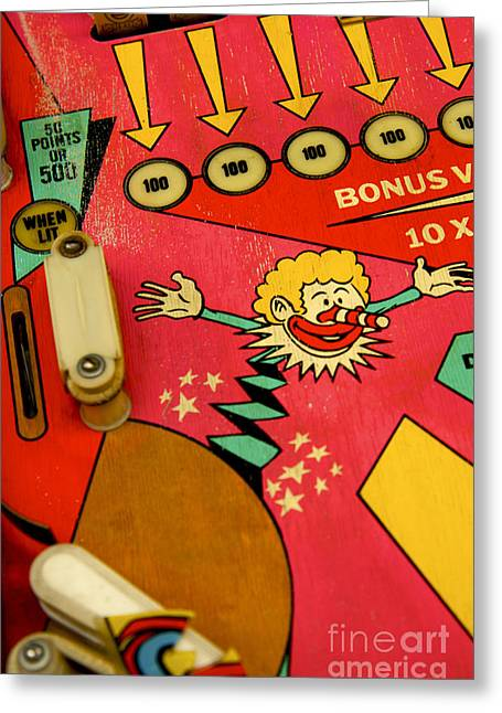 Pastimes Greeting Cards - Pinball machine Greeting Card by Bernard Jaubert