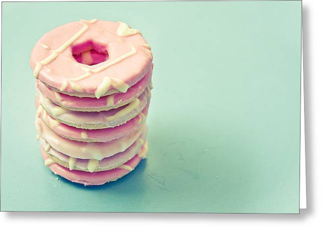 Color Colorful Greeting Cards - Pink cookies Greeting Card by Tom Gowanlock