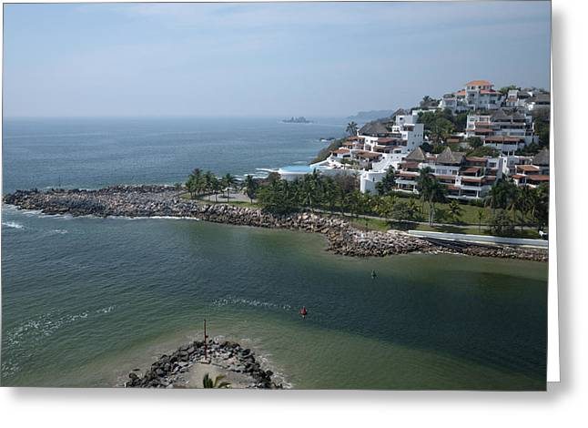 Recently Sold -  - Residential Structure Greeting Cards - Playa El Palmar, Ixtapa Greeting Card by Rob Huntley