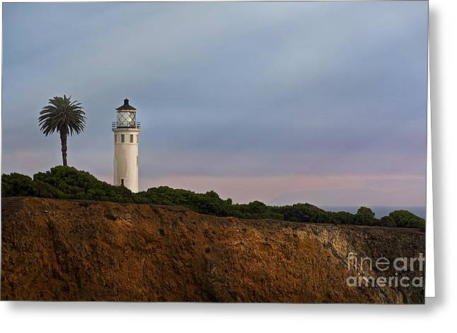 Natural Greeting Cards Pyrography Greeting Cards - Point Vicente Lighthouse Greeting Card by Dmitry Chernomazov