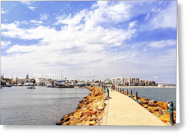 Masts Greeting Cards - Port El Kantaoui Greeting Card by Paul Fell