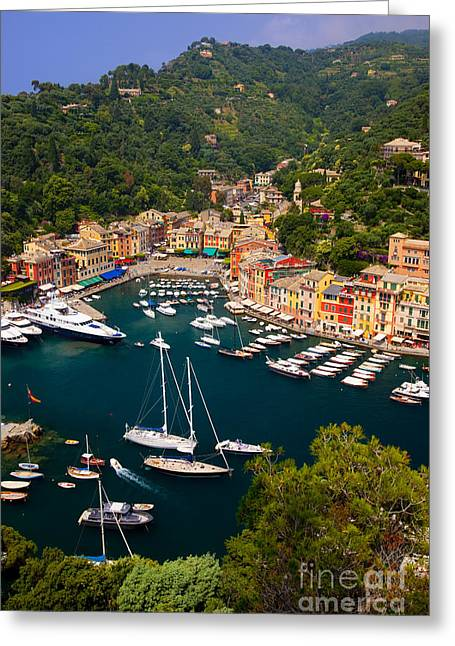 Sea View Greeting Cards - Portofino Greeting Card by Brian Jannsen