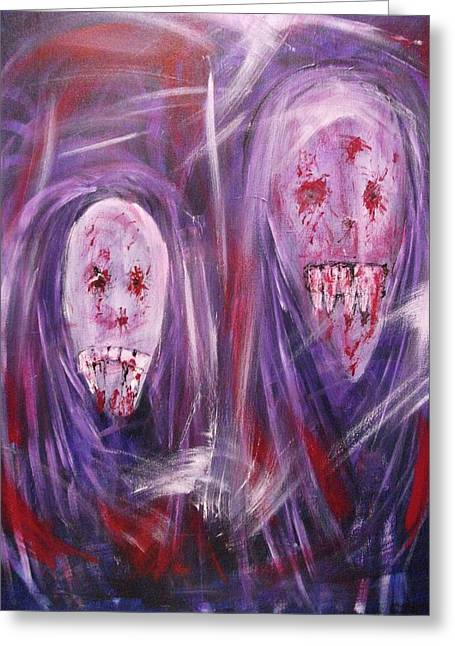 Hallucination Greeting Cards - Portrait of a Vampire Greeting Card by Randall Ciotti