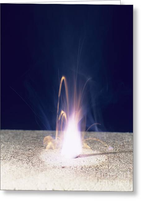 Air Element Greeting Cards - Potassium Burning Greeting Card by Andrew Lambert Photography