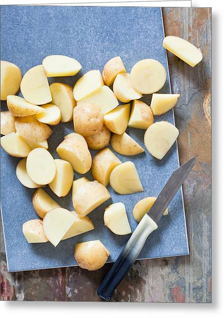 Boards Greeting Cards - Potatoes Greeting Card by Tom Gowanlock
