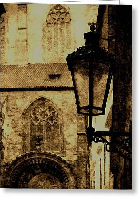 Prague - Old Town Greeting Card by Ludek Sagi Lukac