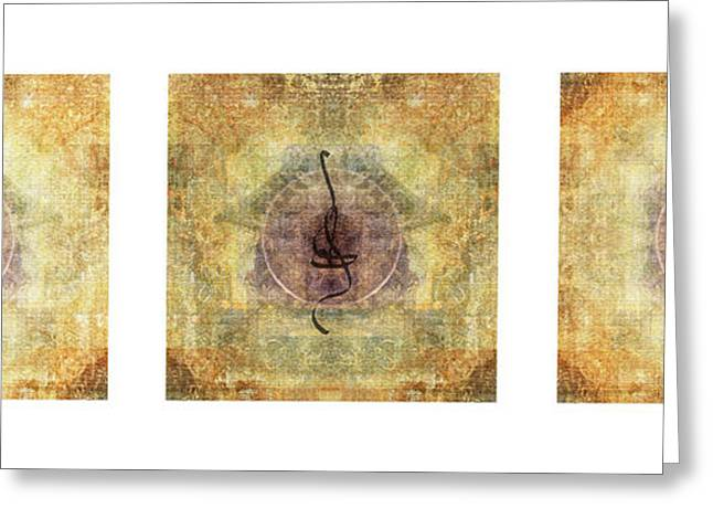 Prayer Flags Greeting Cards - Prayer Flag Triptych  Greeting Card by Carol Leigh