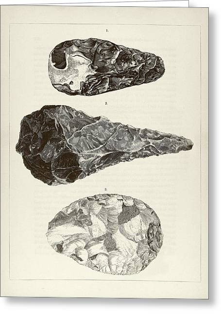 Prehistoric Stone Tools Greeting Card by Middle Temple Library