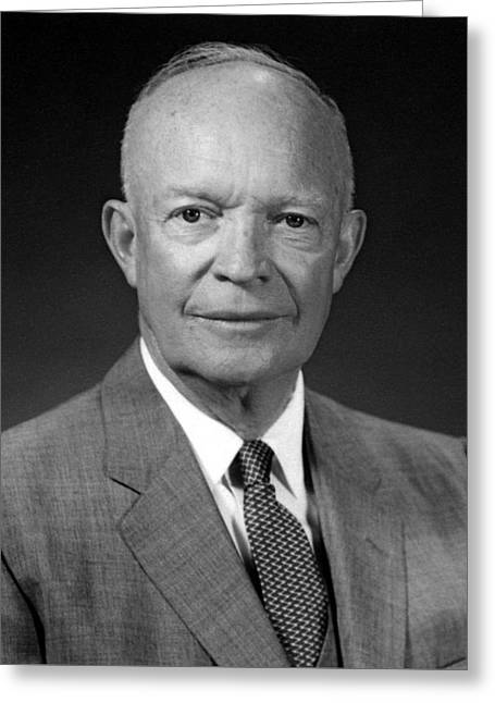 Ike Greeting Cards - President Dwight Eisenhower  Greeting Card by War Is Hell Store