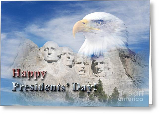 Wildlife Celebration Greeting Cards - Presidents Day Mt Rushmore Greeting Card by Jeanette K