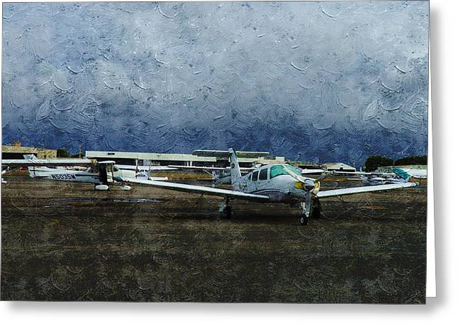 Private Airport Greeting Card by Xueyin Chen