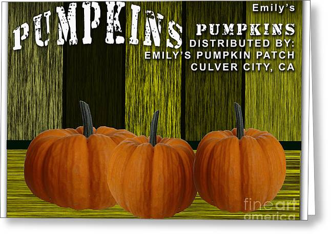 Pumpkin Patch Greeting Card by Marvin Blaine