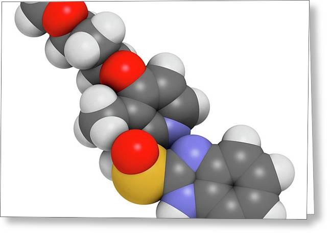Rabeprazole Gastric Ulcer Drug Molecule Greeting Card by Molekuul