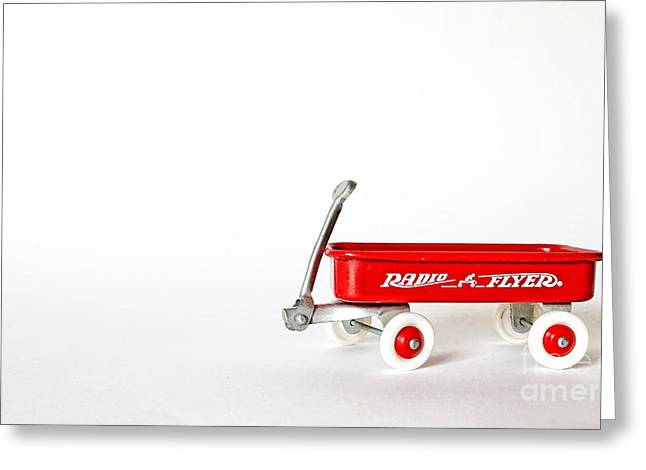 Wagon Greeting Cards - Radio Flyer Greeting Card by Jack Paolini