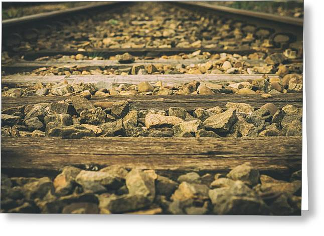 Ground Level Greeting Cards - Rail Bed Greeting Card by Pixabay