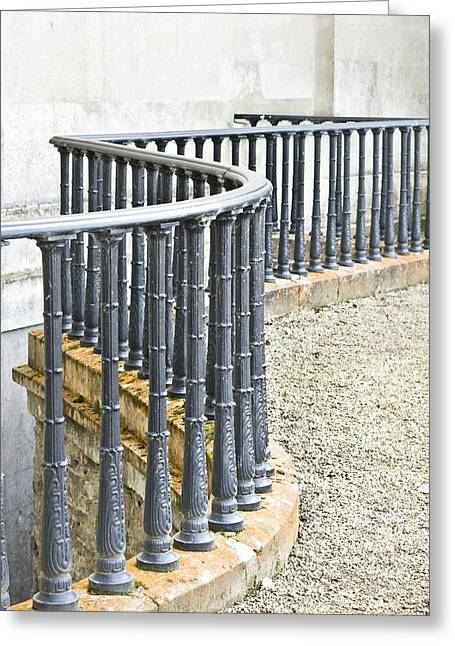 Grate Greeting Cards - Railings Greeting Card by Tom Gowanlock
