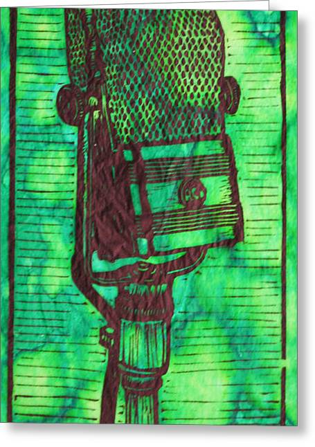 Lino Greeting Cards - Rca 44 Greeting Card by William Cauthern