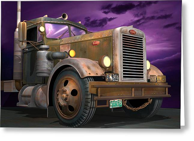 Travel Truck Greeting Cards - Ready 2 Duel Greeting Card by Stuart Swartz