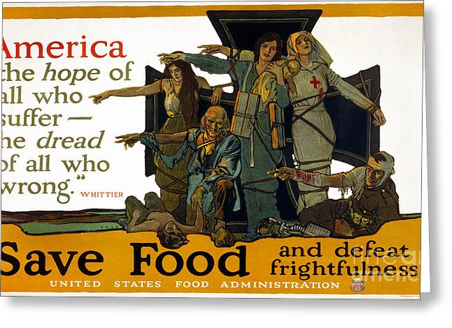 John Greenleaf Greeting Cards - Red Cross Poster, 1917 Greeting Card by Granger