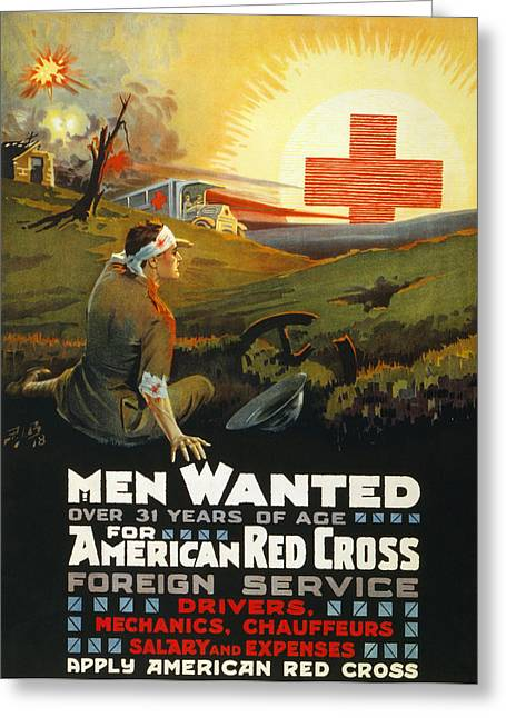 Red Cross Poster, 1918 Greeting Card by Granger