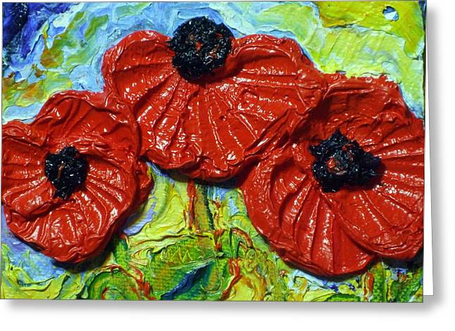 Paris Wyatt Llanso Greeting Cards - Red Poppies Greeting Card by Paris Wyatt Llanso