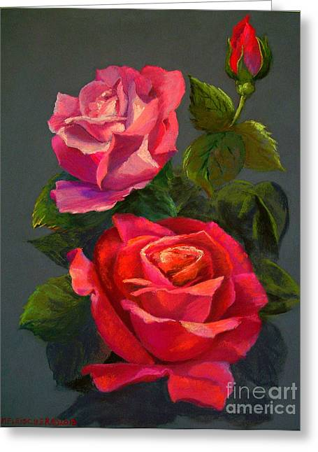 3 Reds Greeting Card by Susan M Fleischer