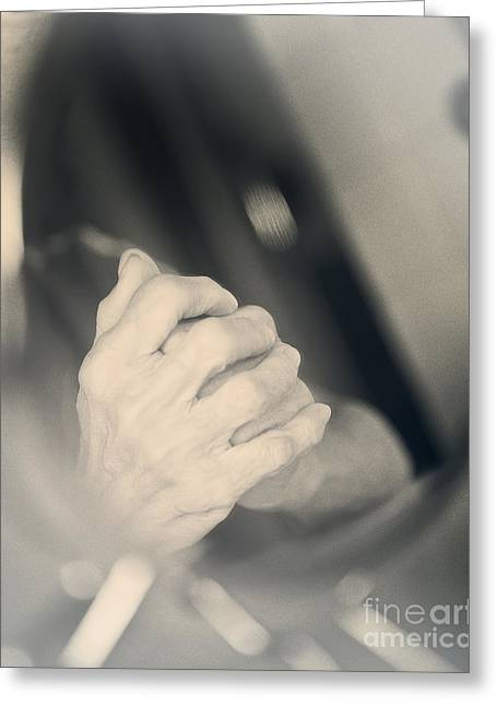 Praying Hands Greeting Cards - Reflection Greeting Card by Ivy Ho