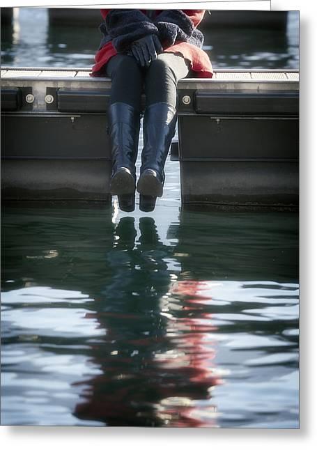 Leggings Greeting Cards - Reflection Greeting Card by Joana Kruse