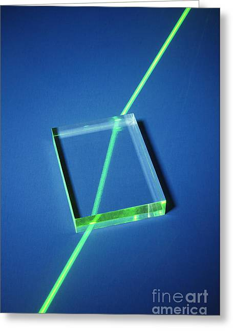 Geometric Effect Greeting Cards - Refraction Greeting Card by GIPhotoStock