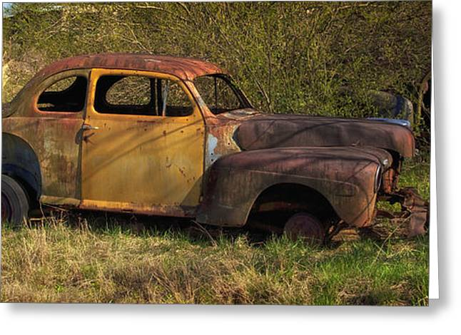 Rusted Cars Greeting Cards - Relics of the Past Greeting Card by Mountain Dreams