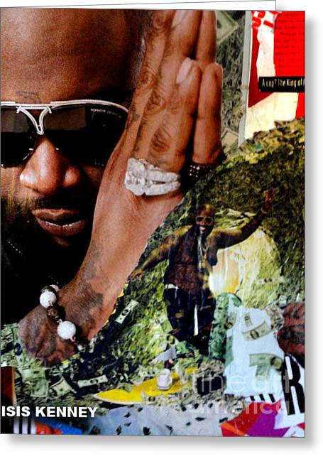 Rick Ross Greeting Cards - Rick Ross The Untouchable Greeting Card by Isis Kenney