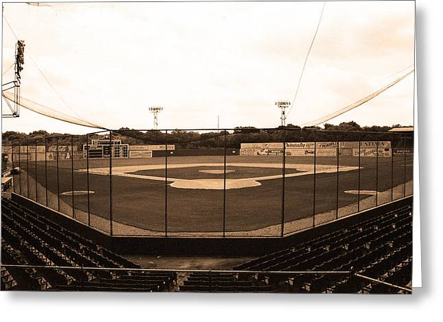 Edison Greeting Cards - Rickwood Field Greeting Card by Frank Romeo