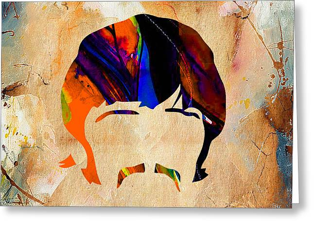 Ringo Starr Mixed Media Greeting Cards - Ringo Starr Collection Greeting Card by Marvin Blaine