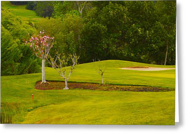 Artistic Photography Greeting Cards - River Course at Alisal Solvang California 3 Greeting Card by Barbara Snyder
