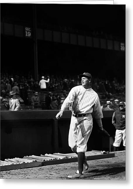 American League Greeting Cards - Robert W. Bob Meusel Greeting Card by Retro Images Archive