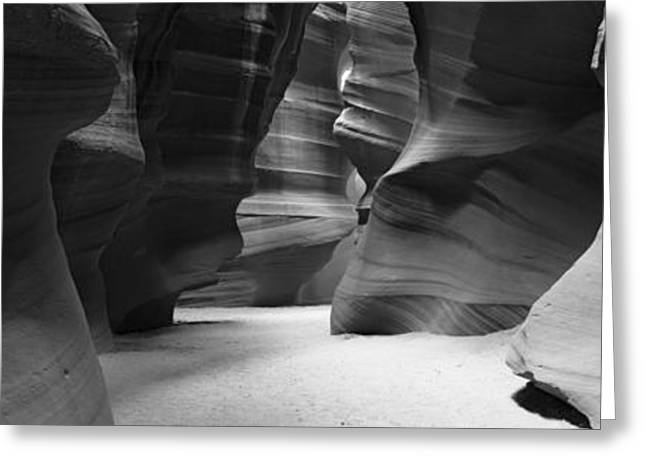 Navajo Tribal Park Greeting Cards - Rock Formations, Antelope Canyon, Lake Greeting Card by Panoramic Images