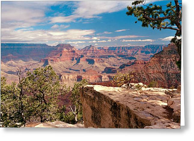 Mather Greeting Cards - Rock Formations In A National Park Greeting Card by Panoramic Images