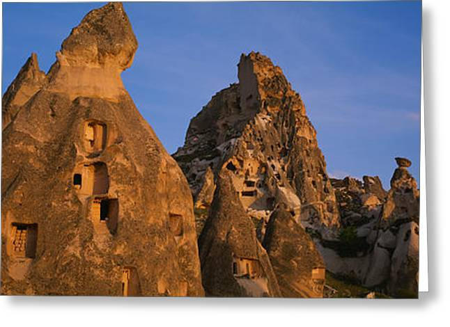 Cliff Dwellings Greeting Cards - Rock Formations On A Landscape Greeting Card by Panoramic Images