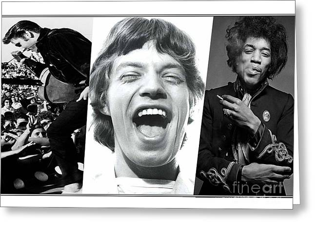 Jagger Greeting Cards - Rock N Soul Legends Greeting Card by Marvin Blaine