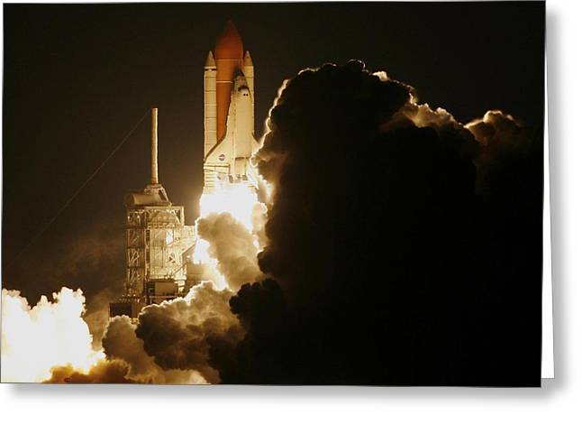 Interstellar Space Photographs Greeting Cards - Rocket launch Greeting Card by Celestial Images