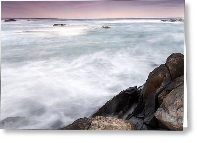 Abstract Waves Greeting Cards - Rocky Coast Kejimkujik Np Nova Scotia Greeting Card by Scott Leslie