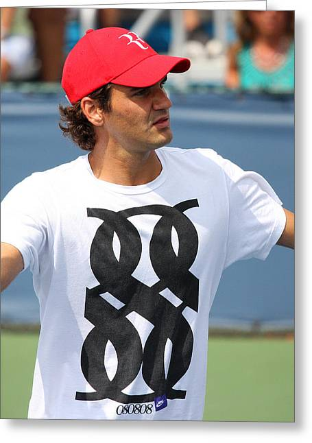 Apt Greeting Cards - Roger Federer Greeting Card by James Marvin Phelps