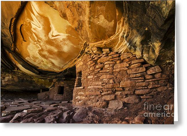Cliff Dwellers Greeting Cards - Ancient Spaces Utah Greeting Card by Bob Christopher