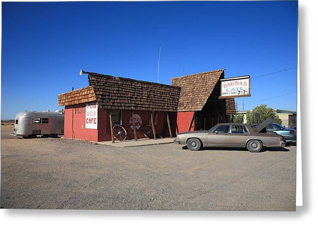 Baghdad Prints Greeting Cards - Route 66 - Bagdad Cafe Greeting Card by Frank Romeo