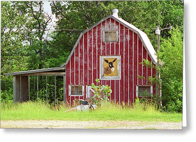 Best Sellers -  - Historic Country Store Greeting Cards - Route 66 - Mule Trading Post Greeting Card by Frank Romeo