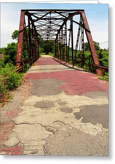 66 Greeting Cards - Route 66 - One Lane Bridge Greeting Card by Frank Romeo